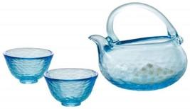Japanese TSUGARU Vidro Handmade glass SAKE cup set GUINOMI ochoko from j... - $175.42