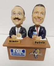 FOX SPORTS NET Florida Panthers Hockey Rimer & Potvin Bobblehead w Box RARE - $69.25