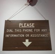 """Vintage Signe """" Faire Plaisir Cadran This Téléphone pour Toute Informati... - $53.98"""