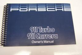 1986 Porsche 911 Carrera Owners Manual Parts Service 911 Turbo new reprint - $98.99
