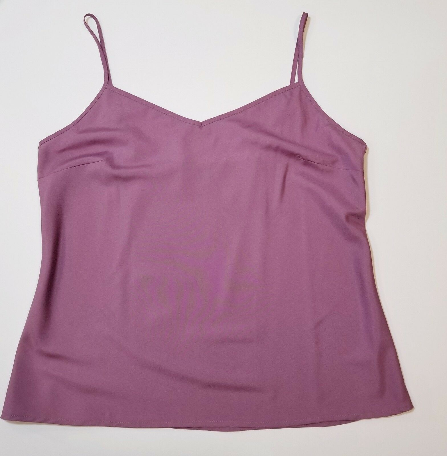Womens Lavender Polyester Cami Size L Adjustable Spaghetti Strap Intimates