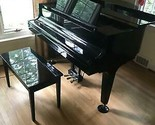 K Kawai GM-1 Baby Grand Piano 1993 Black Ebony with bench