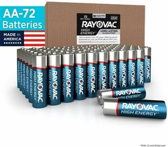 Rayovac Aa Batteries, Alkaline Double A Batteries (72 Battery Count) - $30.68