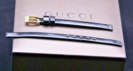 New Gucci 6 MM Black Leather Band - 3900 - 6.101 - Long - $31.95