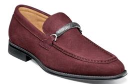 Stacy Adams Pascual Moc Toe Bit Slip On Shoes Suede Oxblood  25332-603 - €82,08 EUR