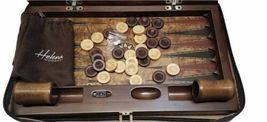 """Luxury Helena Wood Art Handmade Genius Backgammon Set w/ Case Large 23"""" x 15"""" image 5"""