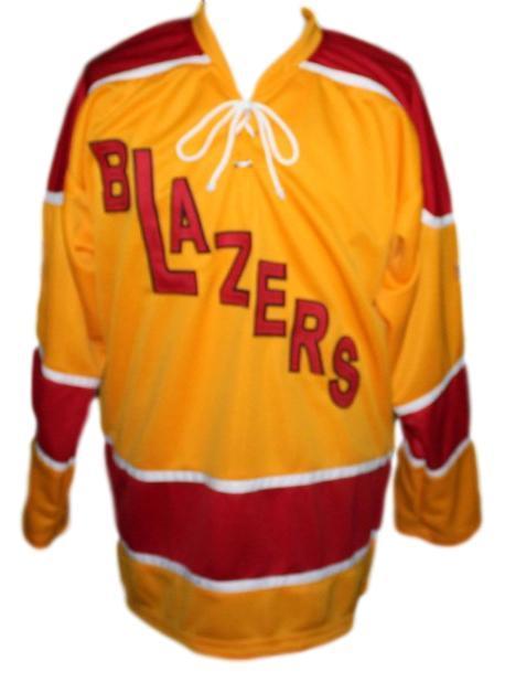 Danny lawson philadelphia blazers hockey jersey yellow   1