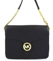 AUTHENTIC NEW NWT MICHAEL KORS $248 LEATHER VANNA BLACK CROSSBODY BAG - $99.99