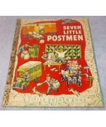 Little Golden Book Seven Little Postmen No 134 A Printing 1952 Tibor Ge... - $14.95