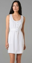 $268 Elie Tahari White Verona Sleeveless Tencel Belted Shirt Dress 8 - $93.50