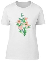 Lily Flowers And Leaves Paint Women's Tee -Image by Shutterstock - $9.86+