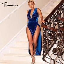 Tobinoone 2018 Maxi Dress Women High Split Party Sexy Dress Summer Long ... - $45.84