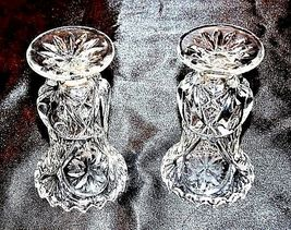 Cut Glass Goblets with Detailed Design AA18-11803 Vintage Heavy image 4