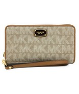 Michael Kors Jet Set Item Large Coin Multifunction Phone Case Wristlet D... - $69.95