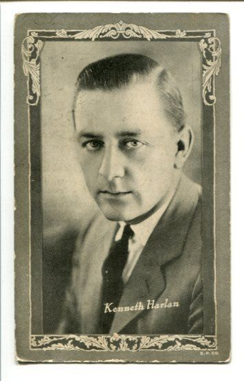 Primary image for LINCOLN THEATER AD CARD-KENNETH HARLAN-1925-SILENT STAR G