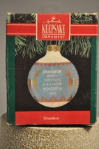 Hallmark - Grandson - Makes Christmas More Wonderful - Globe - Classic O... - $8.61