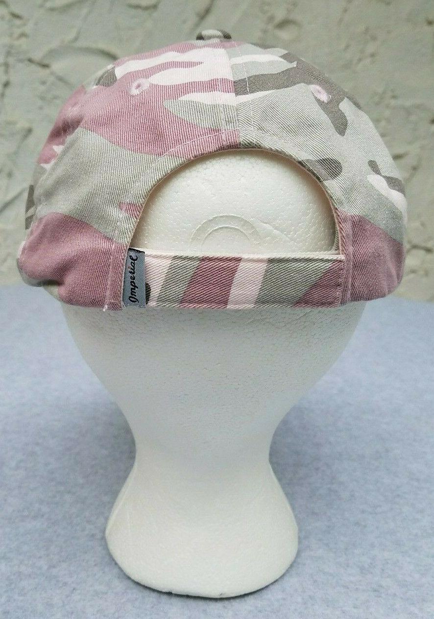 Imperial Headwear Wild Horse Burro Program Pink Camoflage Ball Cap Hat Adjustabl