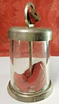 VINTAGE WALSCO GLASS DOME CYLINDER LOCKING BANK w/ LOCK NO KEY