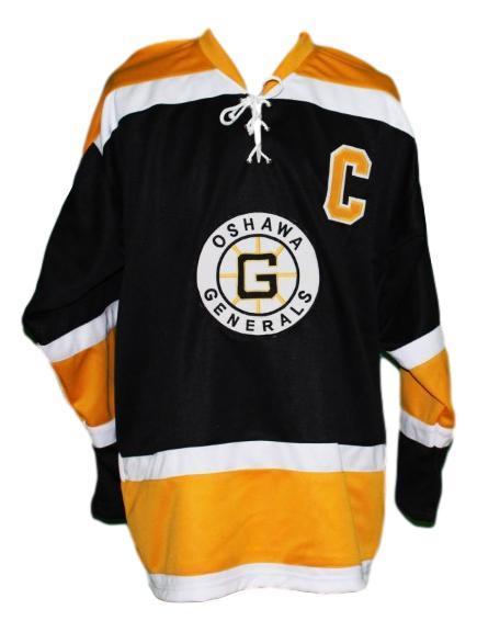 Bobby orr  2 oshawa generals custom retro hockey jersey black   1