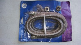 """7ZZ00 Ge Universal Dishwasher Connector Hose: 6' Long, 3/8"""" Compression Fittings - $11.65"""