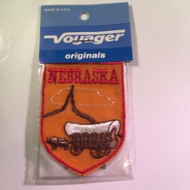 Vintage Retro Voyager Embroidered Patch Nebraska Covered Wagon - $10.58