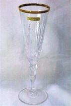 Melodia Calica Champagne Flute Glass Italian Lead Crystal - $6.92