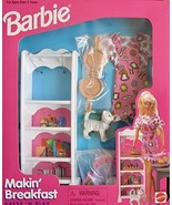 BARBIE Dress 'N Play MAKIN' BREAKFAST Playset w PANTRY SHELF UNIT, Cat, ... - $108.89