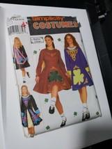 Simplicity 9654 Uncut Irish Dance Costume Dress cape size 6 8 10 12 Preo... - $39.59