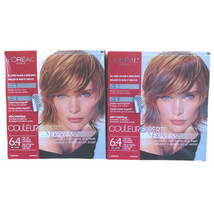 2x L'oreal Couleur Experte Hair Color 6.4 Ginger Twist Light Golden Copper Brown - $88.06