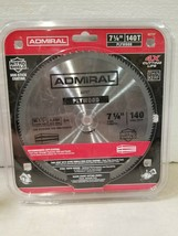 "NEW Admiral Saw Blades 7 1/4"" 140T Plywood Steel Blade 62737 - $8.54"
