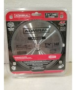 """NEW Admiral Saw Blades 7 1/4"""" 140T Plywood Steel Blade 62737 - $8.54"""