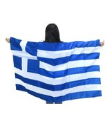 """Country Flag Greece Flag Wearable Country Flag. """"Made to Wear"""" 3ft×5ft, ... - $19.59"""
