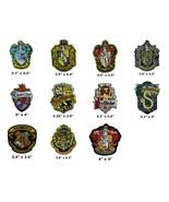 Harry Potter Ravenclaw Gryffindor Hufflepuff Slytherin Hogwarts Iron On Patch - $4.88