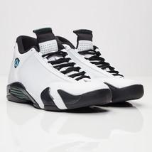 0765d63446f1a8 Nike Air Jordan 14 XIV DS White Black Oxidized Green 487471-106 Size 11.