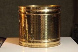 Diamond Dimpled Fireplace Log Bin Brass Decora... - $119.99