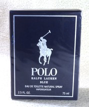 Ralph Lauren POLO BLUE for Men 2.5 oz. EDT Spray Sealed Box - $48.99