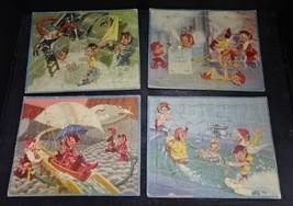 Neat-O Vintage MCM Bill Layne Disney Artist Childrens Tray Puzzles Elves... - $18.99