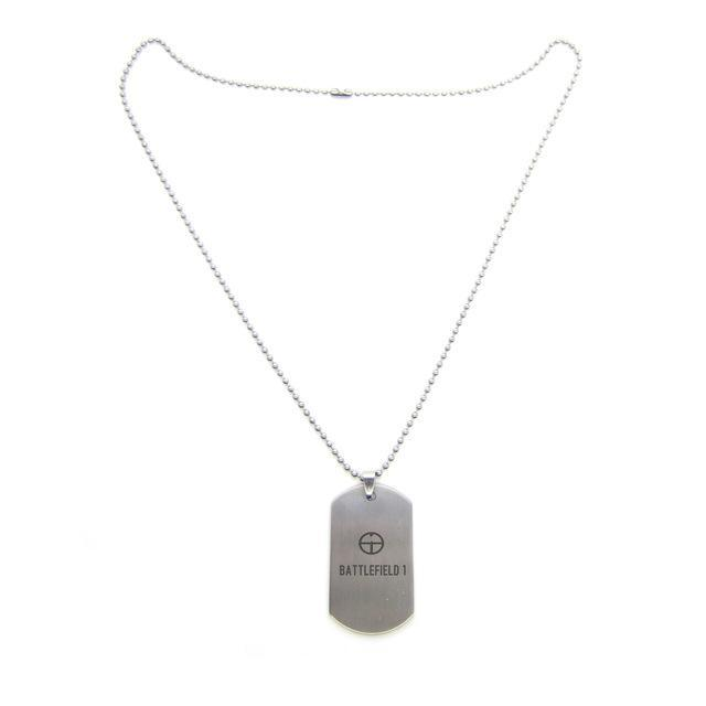 Battlefield 1 (BF1) Dog Tag Themed Stainless Steel Unisex Pendant / Necklace image 2