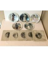 D'Arceau Limoges La Femmes du Siecle Set of 5 Collector Plates Papers Fr... - $49.99