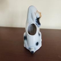 Vintage Dog Planter, Basset Hound Pot, Mid Century Japan Ceramic Puppy Flowerpot image 6