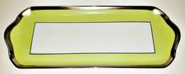 """Haviland Laque De Chine Platinum Rim - Pistache Oblong Cake Plate, 15 3/8"""" - $98.99"""