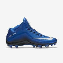 Nike Men's Alpha Pro 2 Football 3/4 Cleats Blue Sz 12 705409 - $47.50