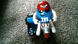 -42- M&M's Red White & Blue Motorcycle Candy Dispenser - FREE SHIPPING!! - $30.15