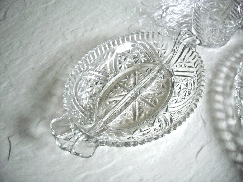 Imperial 4 Pc. Set Matching Cake Plate Relish Dish and Cream & Sugar