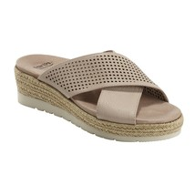 Earth Women Platform Slide Sandals Modena Marigold Size US 7M Blush Leather - $34.74
