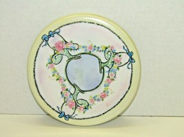"""Vintage Hand Painted Silhouette Hats Round Candle Plate Trivet 6"""" Diamet... - $13.86"""