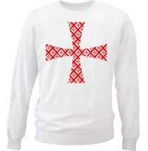 Knight Templar Pattern 19 - NEW WHITE COTTON SWEATSHIRT - $30.65