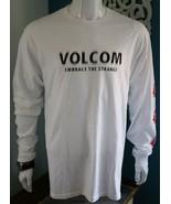 Volcom Mens Graphic Tee White 100% Cotton T-Shirt Size S M L - $27.95