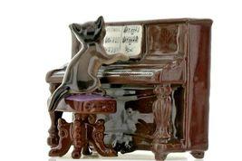 Hagen Renaker Miniature Cat Playing Piano Keyboard Ceramic Figurine image 5