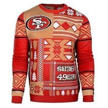 Laid Noël Pull NFL San Francisco 49Ers Patchs Football Noël Ras Cou - $54.00